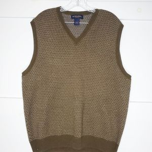 Brooks Brothers Lambswool VNeck Sweater Vest Large